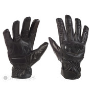 Tactical Black Leather Hard Knuckle Gloves