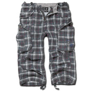 BRANDIT INDUSTRY 3/4 LEGNTH SHORTS DARK PURPLE CHECKED