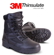 Patrol boot Leather / Cordura Black
