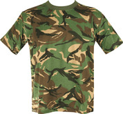 Military Army T Shirt British Woodland DPM