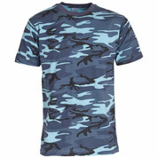 Military Army T Shirt Midnite Camoflage