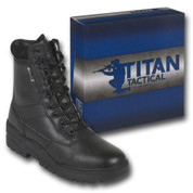 Titan Tactical Combat Patrol Boot Full Leather Black