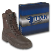 Titan Tactical Combat Patrol Boot Half Leather Brown