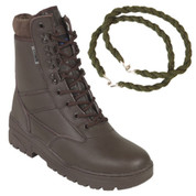 Titan Tactical Combat Patrol Boot Full Leather Brown With Trouser Twist