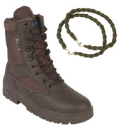 Titan Tactical Combat Patrol Boot Half Leather Brown With Trouser Twist