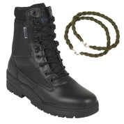 Titan Tactical Combat Patrol Boot Half Leather Black With Trouser Twist