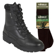 Titan Tactical Combat Patrol Boot Full Leather Black With Socks