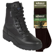 Titan Tactical Combat Patrol Boot Half Leather Black With Socks