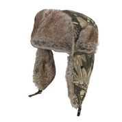 Faux Fur Hunting Hat Camo Adult