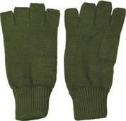 Fingerless Gloves / Mitts Olive Green