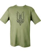 Military Printed SAS (big) T Shirt Olive Green