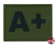 a + plus Olive Green DPM Blood Group Patch