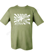 Military Printed Ride em' Cowgirl T Shirt Olive Green