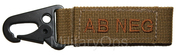 AB NEG - Molle Blood Group Hook Velcro Back Tan