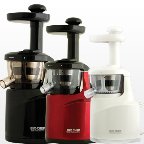 Bio Chef Slow Cold Press Vertical Juicer In Red Black And