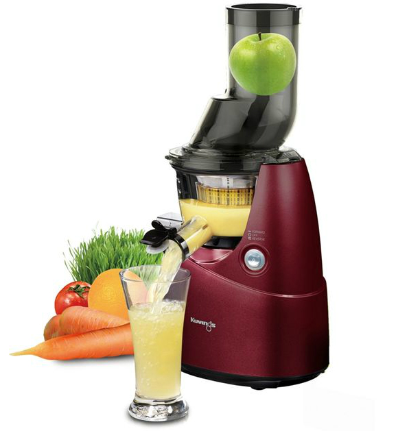 Fridja Whole Fruit Slow Juicer : Kuvings B6000PR Whole Fruit Juicer in Red Juicers.ie