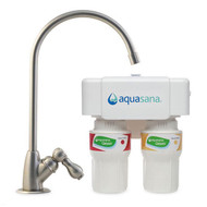 Aquasana AQ-5200P 2-Stage Under Sink Water Filter System in Brushed Nickel