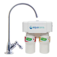 Aquasana AQ-5200P Premium Under Sink Water Filter System in Polished Chrome