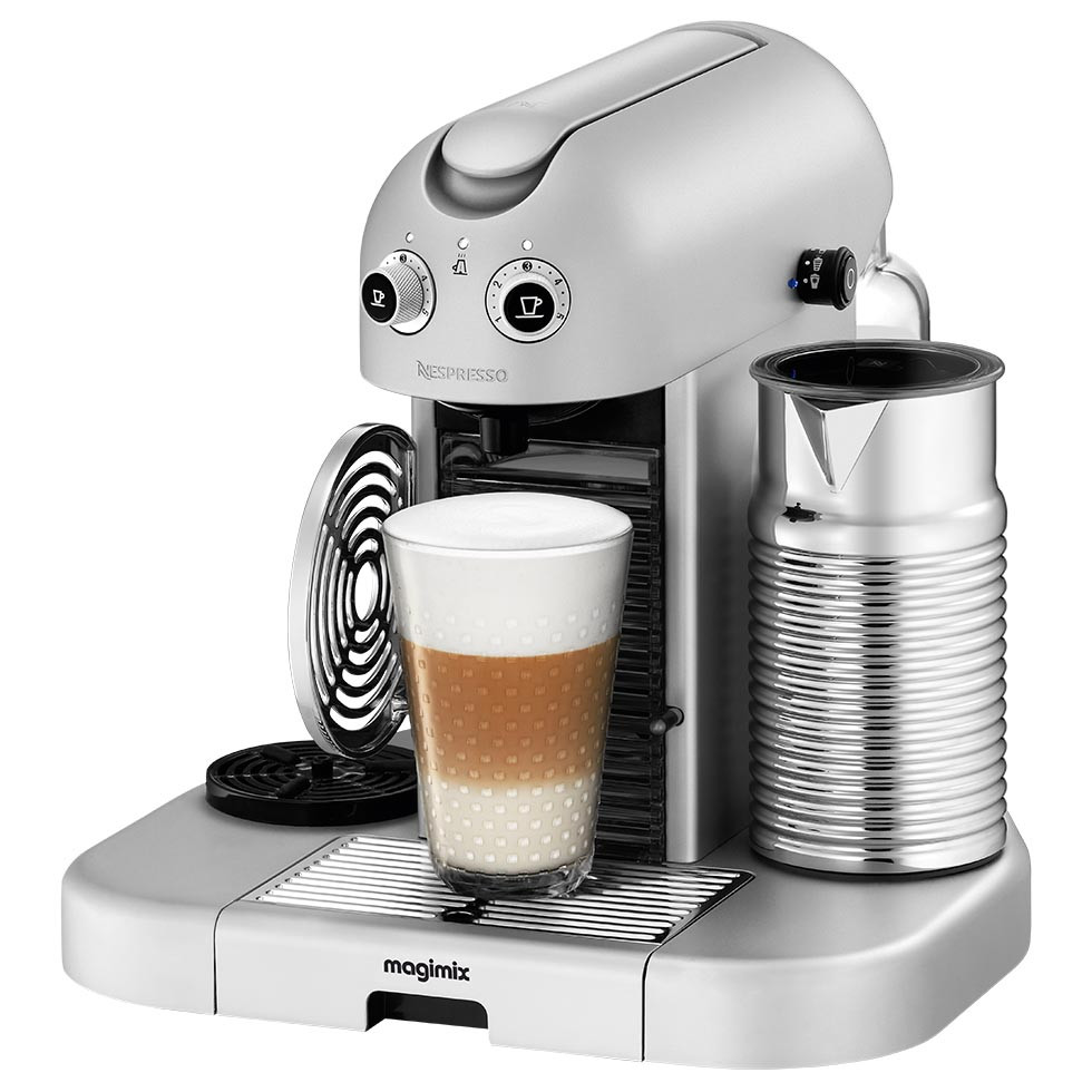 Magimix Nespresso Gran Maestria Coffee Machine in Silver