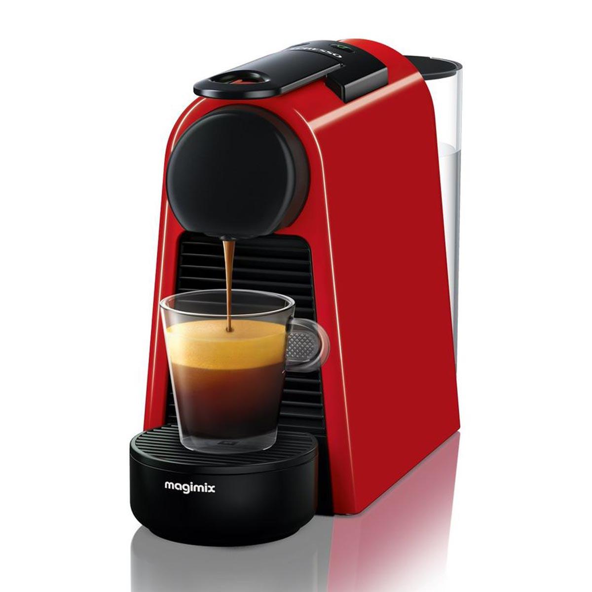 Nespresso Essenza Mini Coffee Machine by Magimix in Red