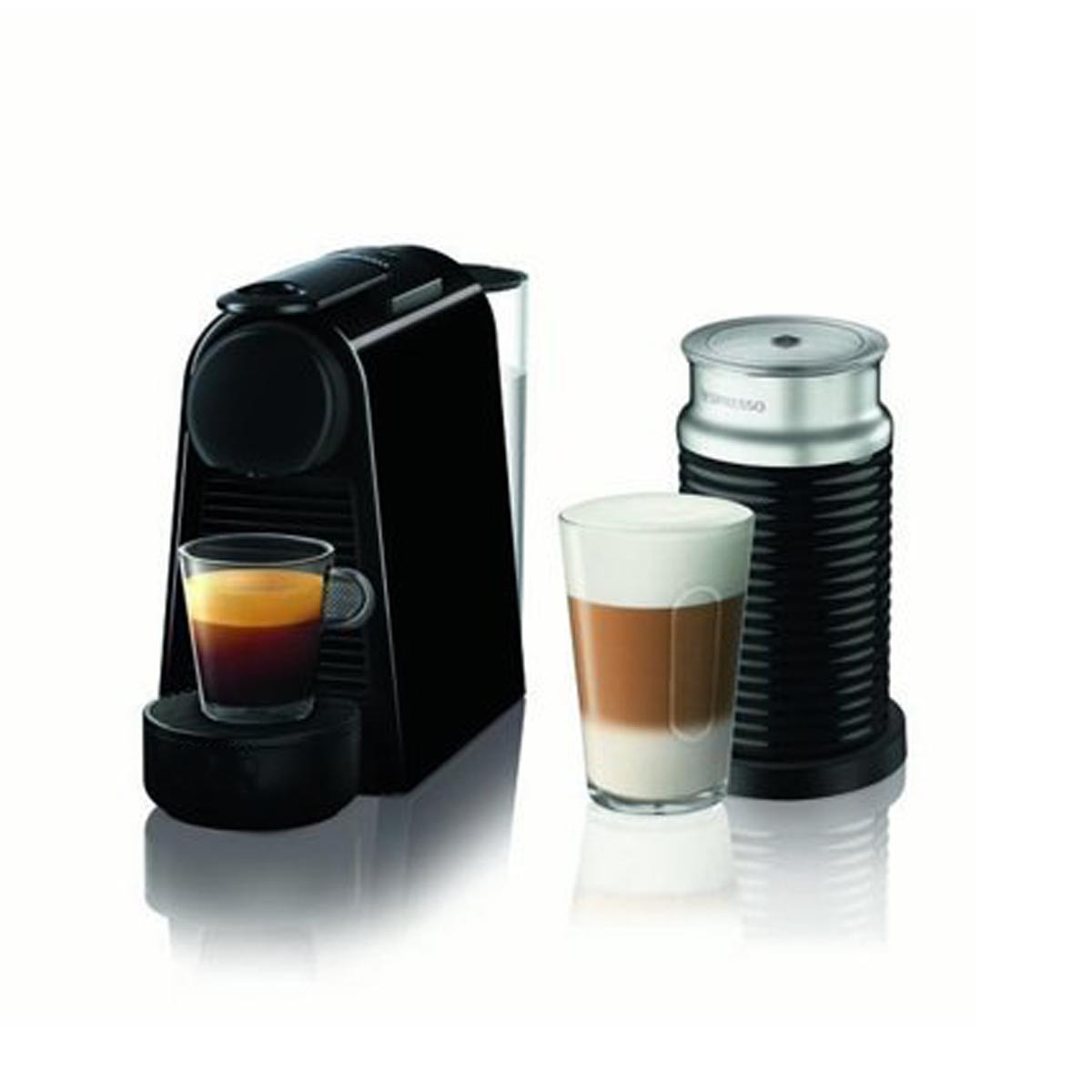 Nespresso Essenza Mini + Aeroccino3 Coffee Machine by Magimix in Black