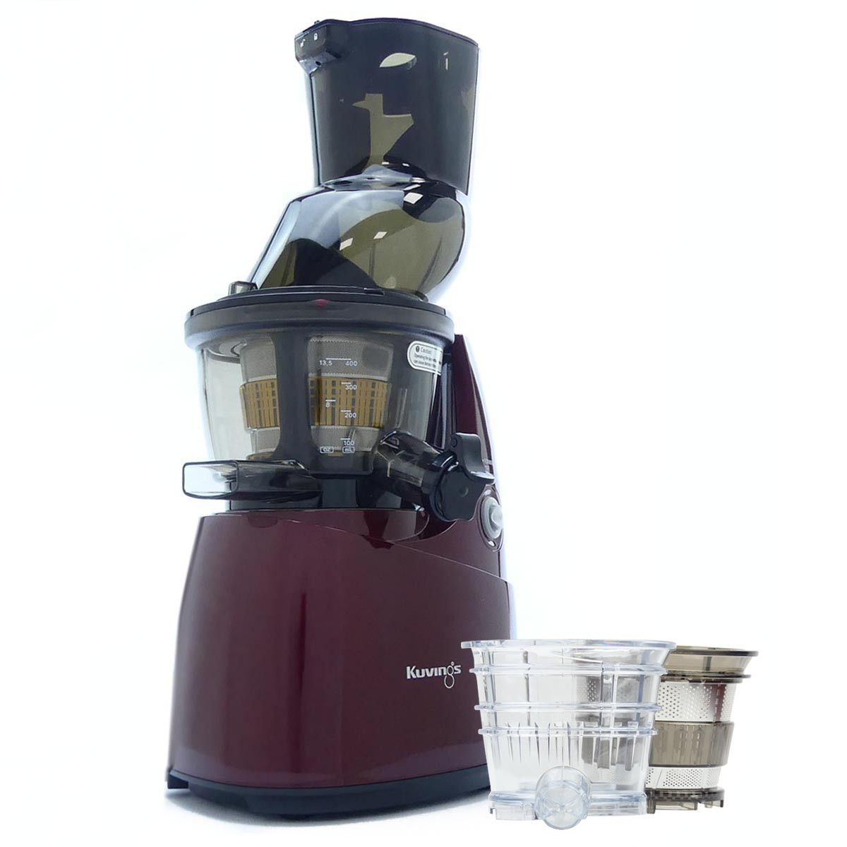 Kuvings B8200 Whole Fruit Juicer in Red with Accessories