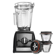 Vitamix Ascent Series A2500i Blender in Black with 225ml Blending Bowl Starter Kit