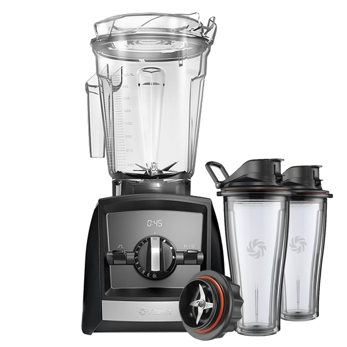 Vitamix Ascent Series A2500i Blender in Black with 600ml Blending Cup Starter Kit