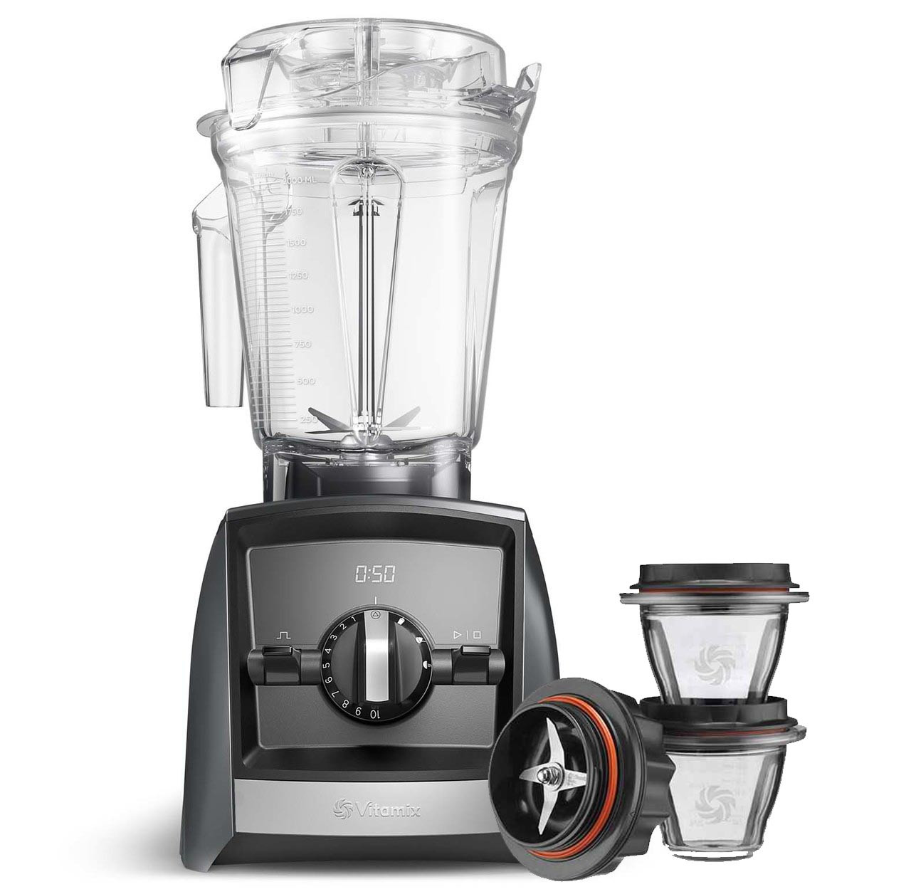 Vitamix Ascent Series A2500i Blender in Grey with 225ml Blending Bowl Starter Kit
