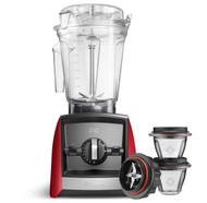 Vitamix Ascent Series A2500i Blender in Red with 225ml Blending Bowl Starter Kit