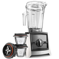 Vitamix Ascent 2300i Series Blender In White with 225ml Blending Bowl Starter Kit