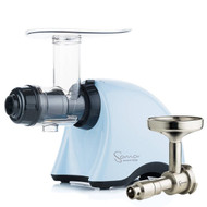 Omega Sana EUJ-707PP Slow Juicer in Pastel Blue with Oil Attachment