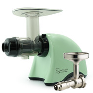 Omega Sana EUJ-707PG Slow Juicer in Pistachio Green with Oil Attachment
