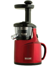 Bio Chef Slow Cold Press Vertical Juicer in Red