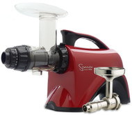 Omega Sana Juicer Red EUJ 606R with Oil Attachment