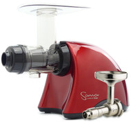 Omega Sana Juicer Ferrari Red EUJ 707R with Oil Attachment