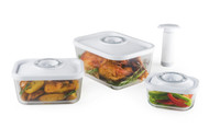 STATUS 4-Set of Glass Vacuum Containers