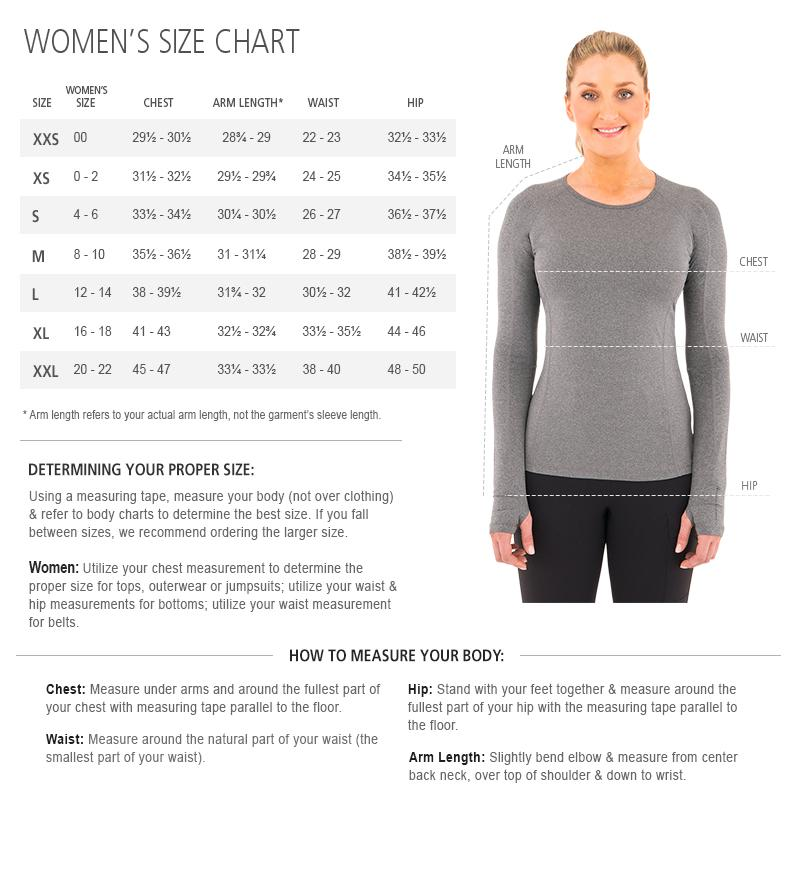 Noble Outfitters Womens Size Chart