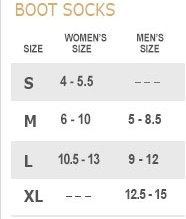 Noble Outfitters Sock Size Chart