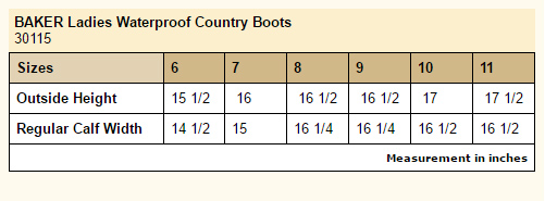 14d2b14f643 Baker Ladies Waterproof Country Boots