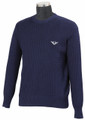 TuffRider Men's Classic Cable Knit Sweater  - Navy
