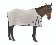 Centaur Irish Knit Sheet - White w/Navy