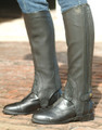 Ovation Stretch Ribbed Top Grain Half Chaps