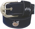 Equine Couture Whales Suede Belt