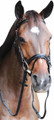 HDR Mono Crown Bridle w/Patent Leather Flash Nose Band - black
