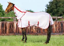 TuffRider Power Mesh Detachable Neck Fly Sheet - white