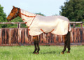 TuffRider Sport Mesh Combo Neck Fly Sheet - frosted almond
