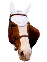 Equine Couture Fly Bonnet - white
