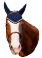 Equine Couture Fly Bonnet with Lurex Rope - navy