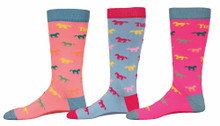 TuffRider Neon Pony Kids Socks
